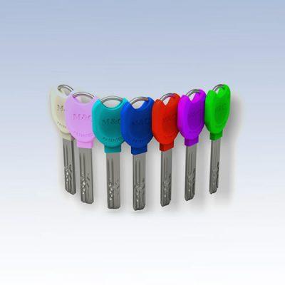 M&C color sleutels leverbaar in 6 kleuren