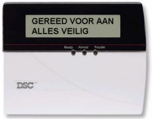 Handleiding  DSC EC 6350 LCD controlebedienpaneel